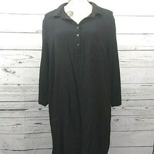 Faded Glory sz XL shirt button dress black